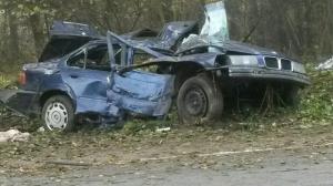 В Логойском районе водитель BMW попытался объехать енота и вылетел в кювет: погиб пассажир
