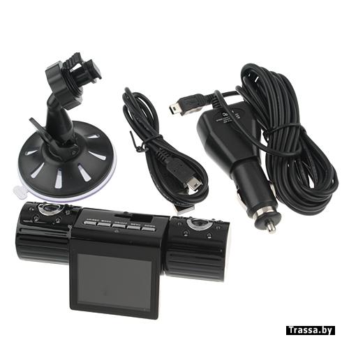 автомобильный видеорегистратор на 2 камеры 2. 0 TFT 1280х480 новый