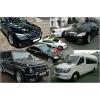 Микроавтобусы.  Mercedes W221,  Audi A8,  BMW 7.  Внедорожники.  Трансферы